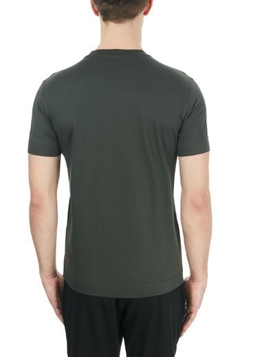 Emporio Armani  Baskılı Bisiklet Yaka % 100 Pamuk T Shirt Erkek T Shırt S 6H1Tg2 1Jtuz 0564 Haki